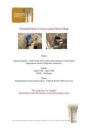 Practical Stone Conservation Workshop