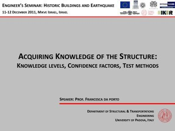 ACQUIRING KNOWLEDGE OF THE STRUCTURE: