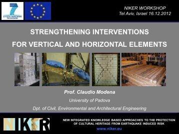 strengthening interventions for vertical and horizontal elements