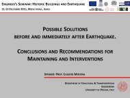 possible solutions before and immediately after earthquake ...
