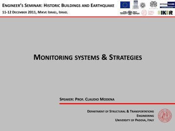 MONITORING SYSTEMS & STRATEGIES