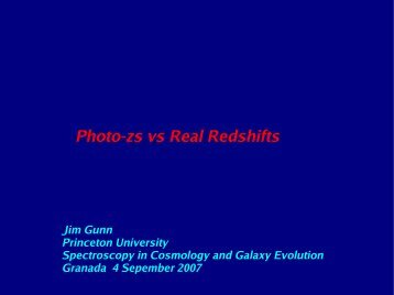 Photo-zs vs Real Redshifts