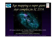 Age mapping a super giant star complex in IC 2574