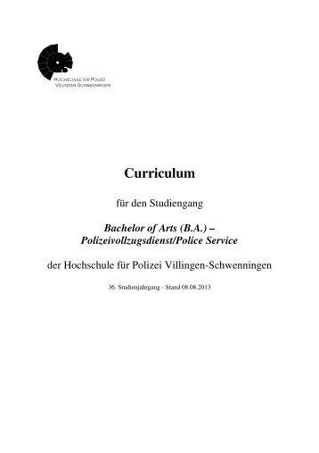 Curriculum 36 Jg 08.08.2013 - Hochschule für Polizei