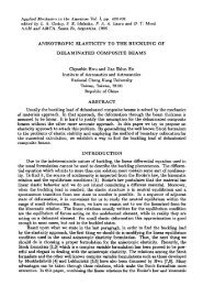 ANISOTROPIC ELASTICITY TO THE BUCKLING OF ...