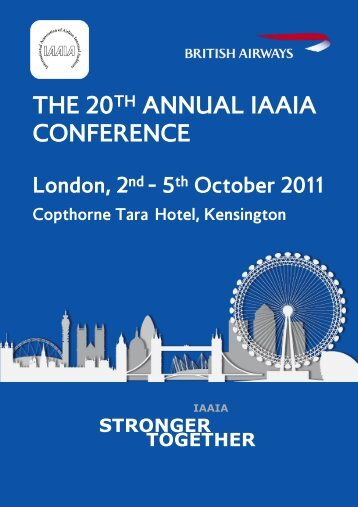 the 20th annual iaaia conference - International Association of ...