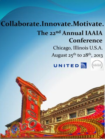 Chicago, Illinois U.S.A. August 25th to 28th, 2013 - International ...