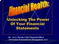 Unlocking The Power of Your Financial Statements - IAAPA