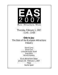 Thursday, February 1, 2007 11:45 - 13:00 Ode to Joy: The ... - IAAPA