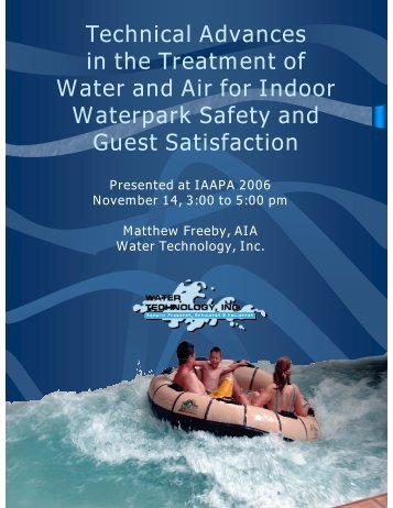 Technical Advances in the Treatment of Water and Air for ... - IAAPA