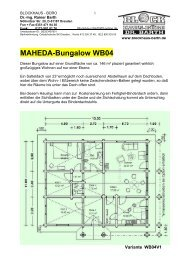 Maheda-Bungalow WB04 - Blockhaus Barth