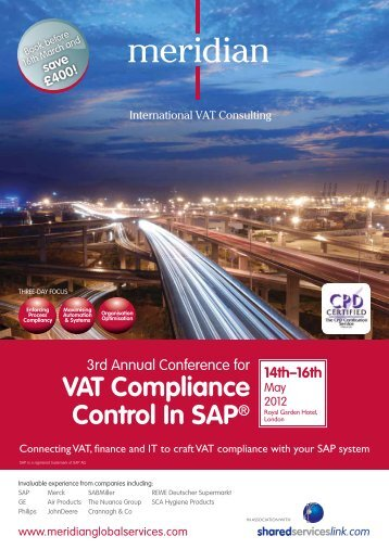 VAT Compliance Control In SAP® - Meridian Global Services