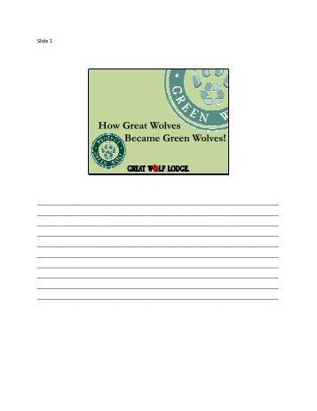 2010 Orlando Handouts\Project Green Wolf_Tim Black ... - IAAPA