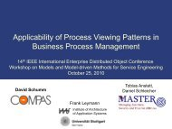 Applicability of Process Viewing Patterns in Business Process ... - IAAS