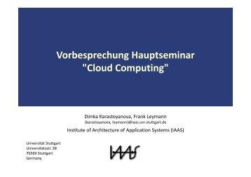 Cloud Computing - IAAS - Universität Stuttgart