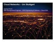 Cloud Networks – Uni Stuttgart - IAAS