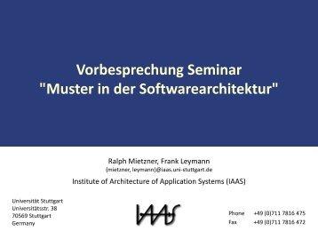 Themen und Termine - IAAS - Universität Stuttgart
