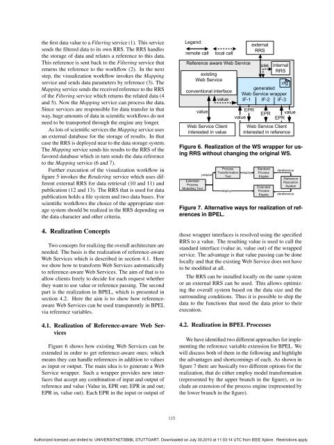 Towards Reference Passing in Web Service and Workflow ... - IAAS