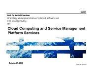 Cloud Computing for a Smarter Planet - IAAS