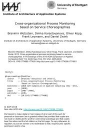 Cross-organizational Process Monitoring based on Service ... - IAAS