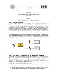 Exercises Message-Based Application Integration WS 2010 ... - IAAS