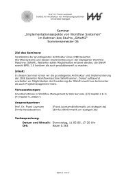 SWoM2 Seminar - IAAS - Universität Stuttgart