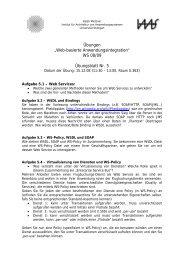 """Web-basierte Anwendungsintegration"" WS 08/09 Übungsblatt Nr. 5"