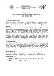 Hauptseminar WS05-06 - IAAS - Universität Stuttgart