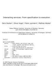 Interacting Services: From Specification to Execution - IAAS
