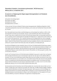 """Präsentation Publikation """"Herausforderung Demokratie"""", NCCR ..."""