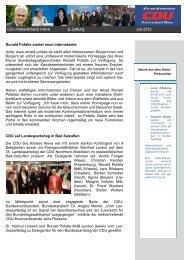 CDU KV E-ZEITUNG Juli 2013 - CDU Kreis Kleve