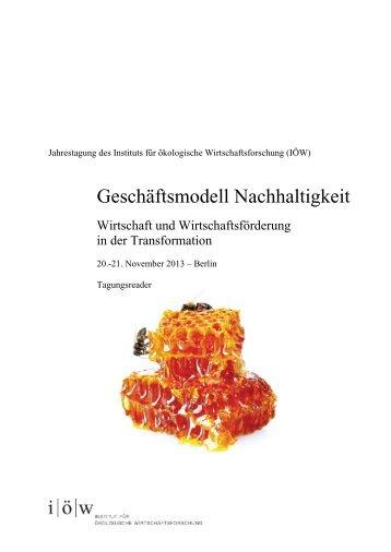 IOEW-Jahrestagung Geschaeftsmodell-Nachhaltigkeit ..., Seiten 1-34