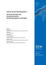Lehren für die Familienpolitik – Zentrale Resultate der ...