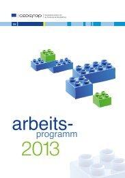 Arbeitsprogramme 2013 - Cedefop - Europa