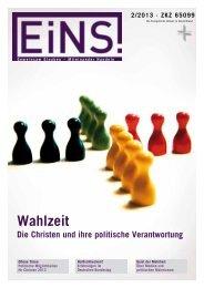 EINS Magazin 02-13 Web x4.pdf - Deutsche Evangelische Allianz