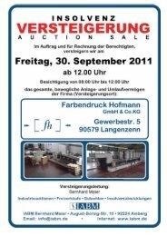 Katalog HofmannA4 Etw1 - Industrie Auktionen Bernhard Maier