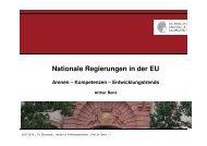Nationale Regierungen in der EU