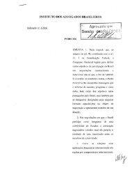 INSTITUTO DOS ADVOGADOS BRASILEIROS PARECER