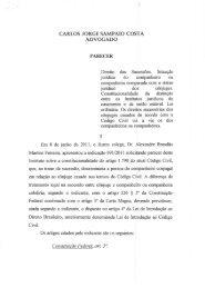 Parecer do Dr. Carlos Jorge Sampaio Costa, da Comissão ...
