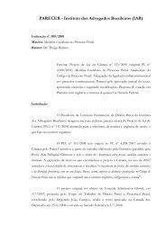 Acesse a íntegra do parecer - Instituto dos Advogados Brasileiros