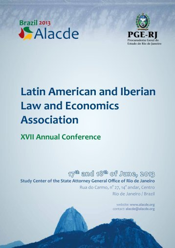Latin American and Iberian Law and Economics Association - Alacde
