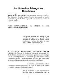 Parece - Instituto dos Advogados Brasileiros
