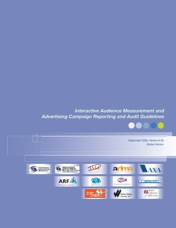 Interactive Audience Measurement and Advertising Campaign ... - IAB