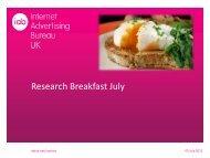 Research Breakfast July - IAB UK