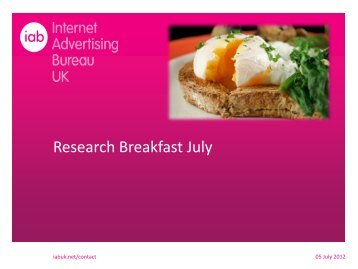 Research Breakfast July - IAB UK
