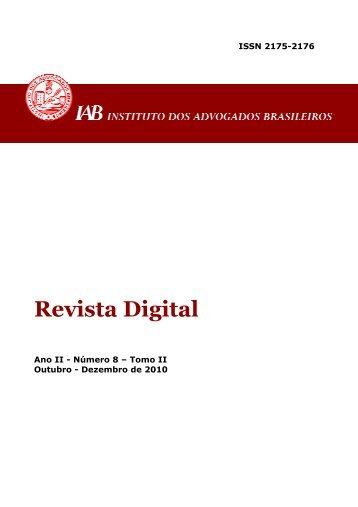 Revista Digital - Instituto dos Advogados Brasileiros