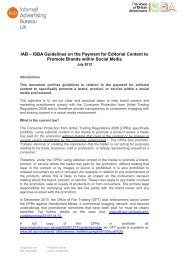 ISBA Guidelines on the Payment for Editorial Content to ... - IAB UK
