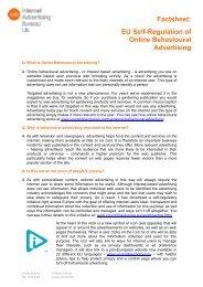 IAB UK Behavioural Advertising Fact Sheet