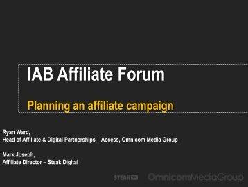 Affiliate planning - IAB UK