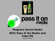 Magners Social Media With Pass It On Media and Cake PR - IAB UK